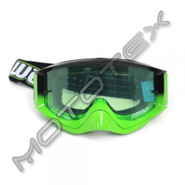 Motokrosiniai akiniai WULFSPORT SHADE žali