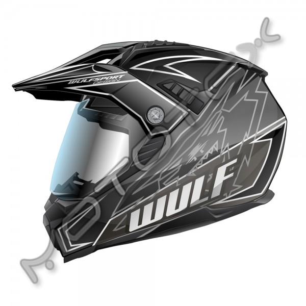 Helmet M/X WULFSPORT PRIMA X (juodas) S