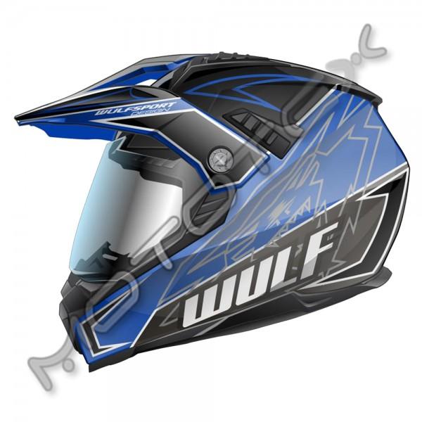 Helmet M/X WULFSPORT PRIMA X (mėlynas) XS