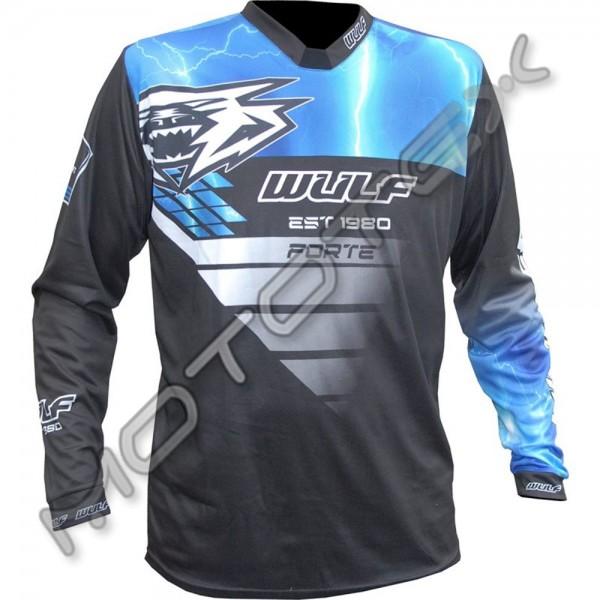 Marškinėliai WULFSPORT RACING (mėlyna) 3XL