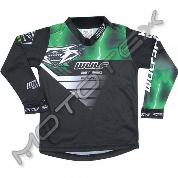 Marškinėliai WULFSPORT RACING vaikiški (žalia) 8-10