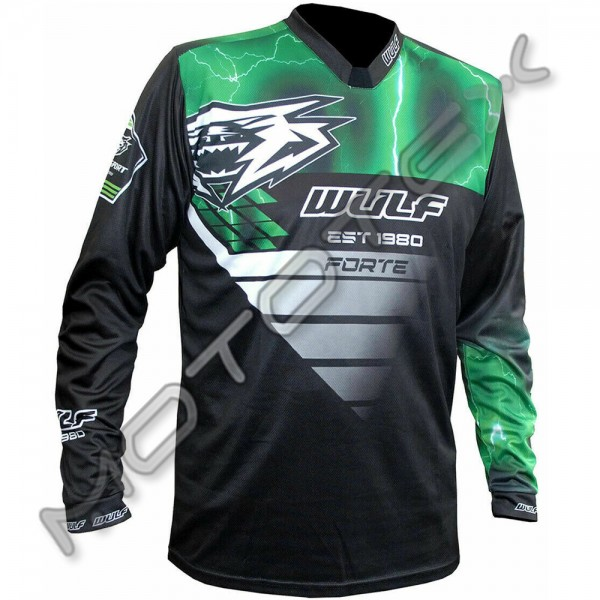 Marškinėliai WULFSPORT RACING (žalia) L
