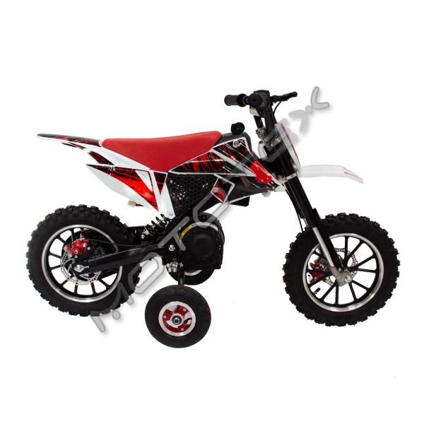 Motokrosinis motociklas elektrinis QWDB-01 800W (raudonas)